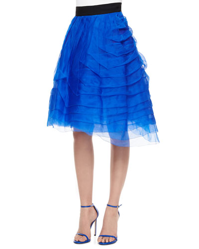 TIERED ORGANIZA PARTY SKIRT