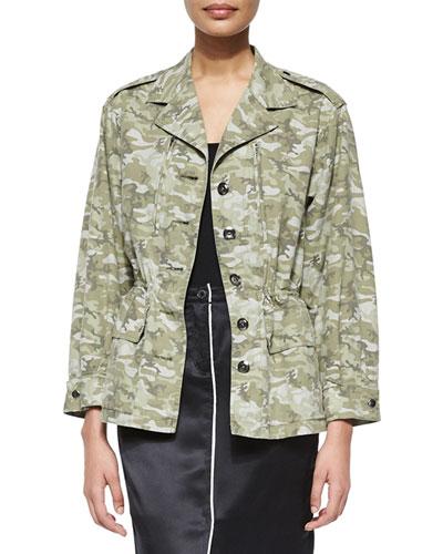 Camo Field Drawstring-Waist Jacket