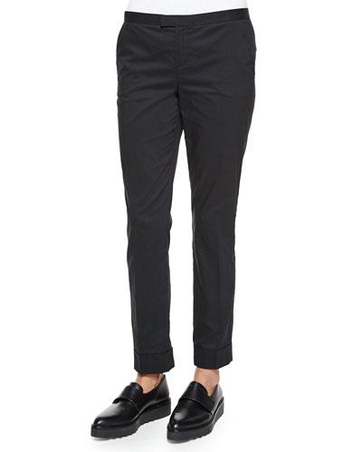 Pinstripe Slim Cuffed Pants