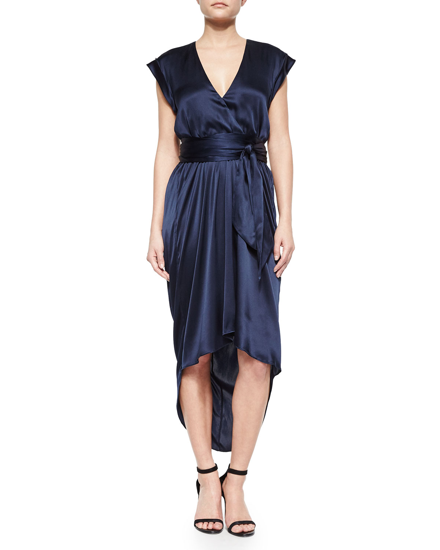 Toni V-Neck Satin Dress