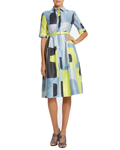 Ava Graphic-Print Shirtdress