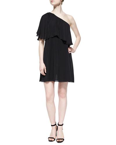 Ruth One-Shoulder Flutter Dress