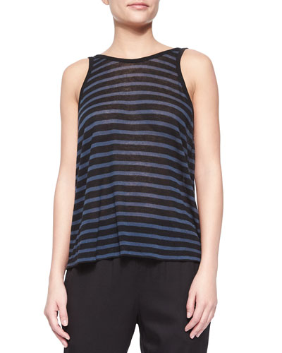 Striped Scoop-Back Tank