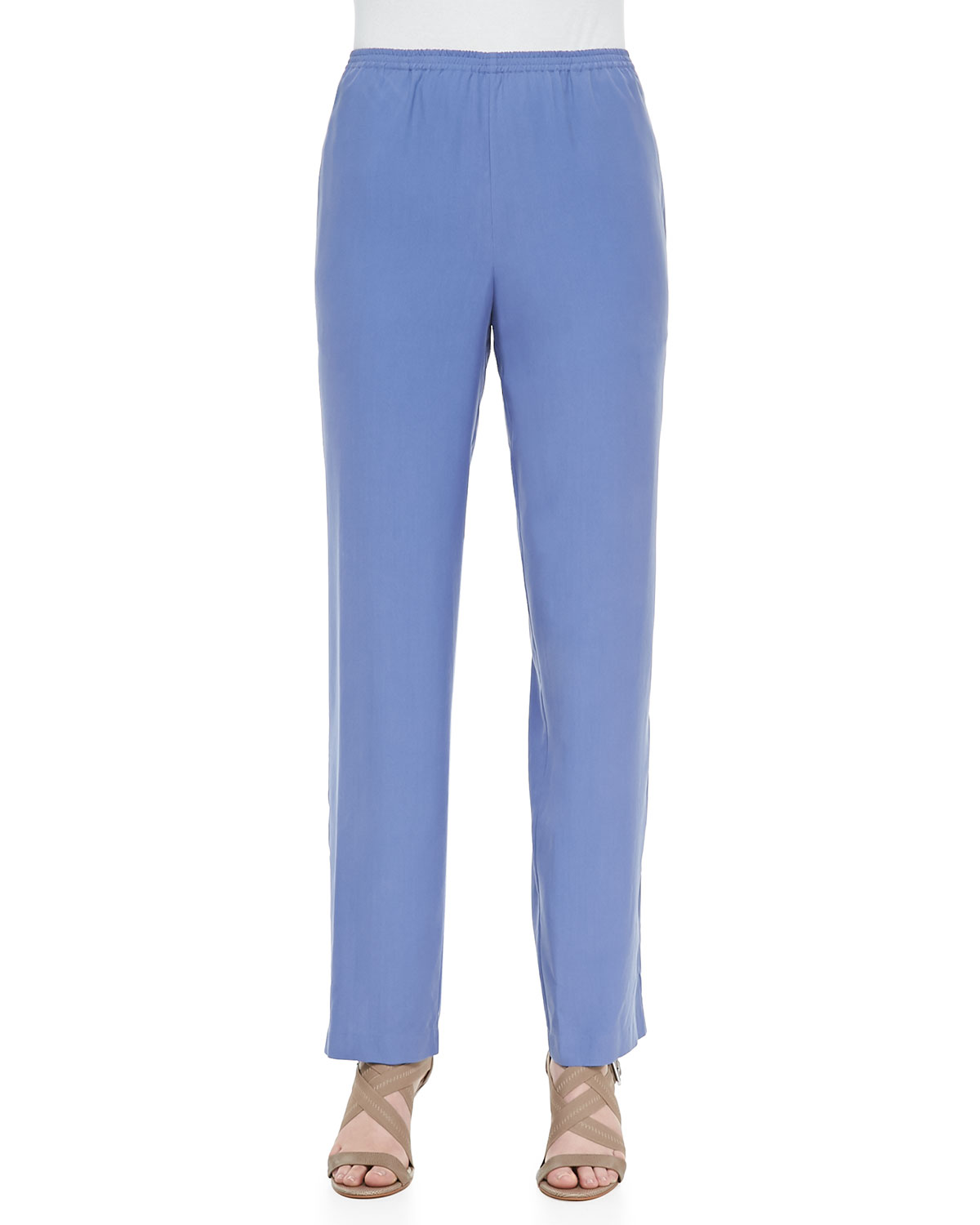 Solid Pull-On Pants, Blue