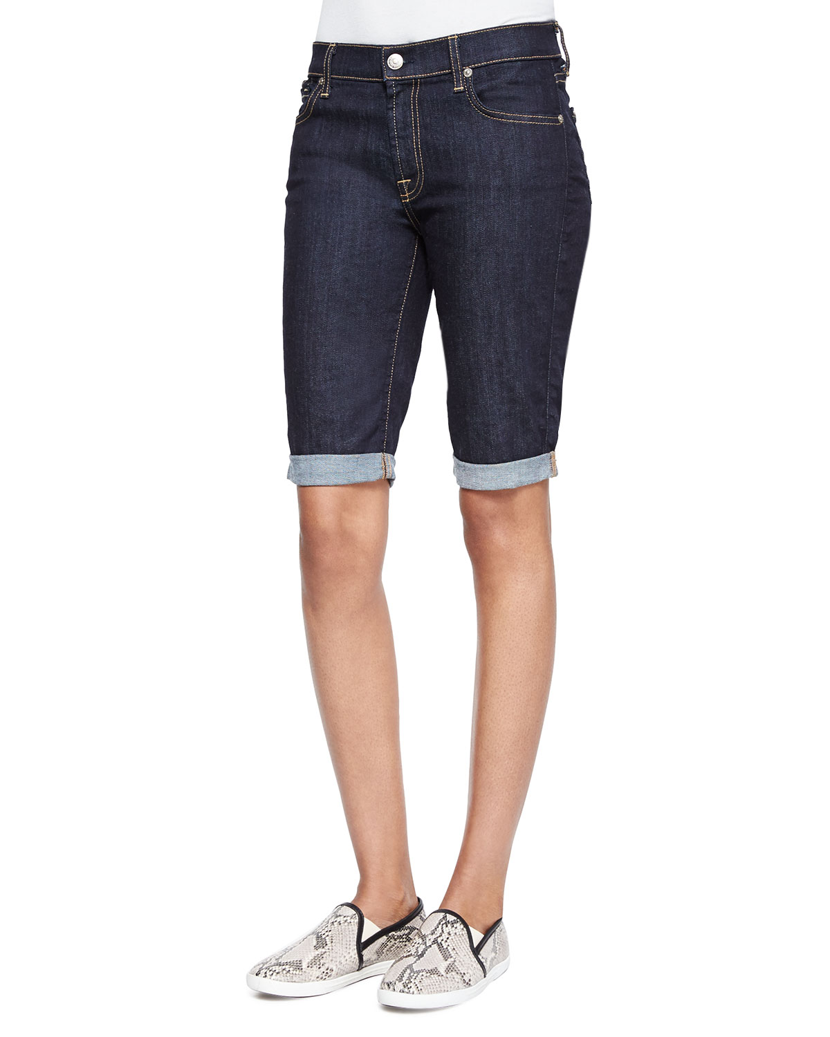 Denim Bermuda Shorts, Ink Rinse