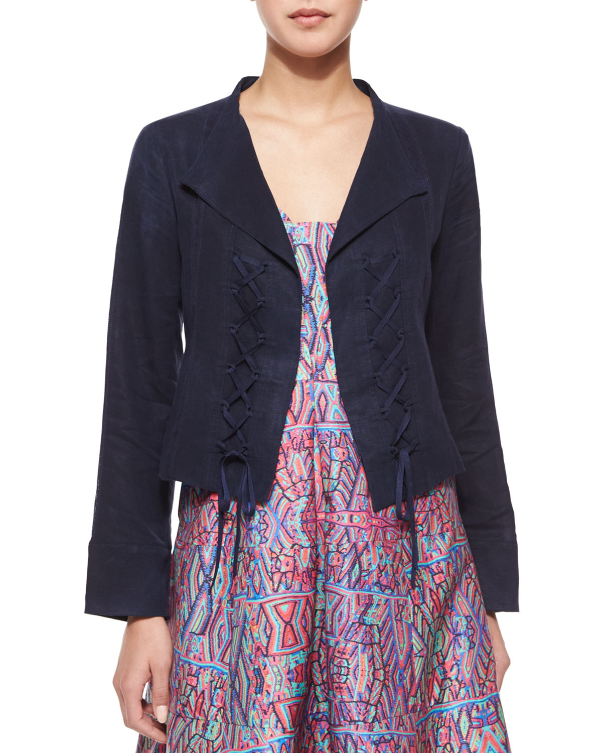 Angle Falls Structured Lace-Up Jacket