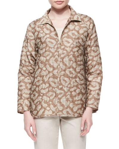 Zineb Animal-Print Topper Jacket
