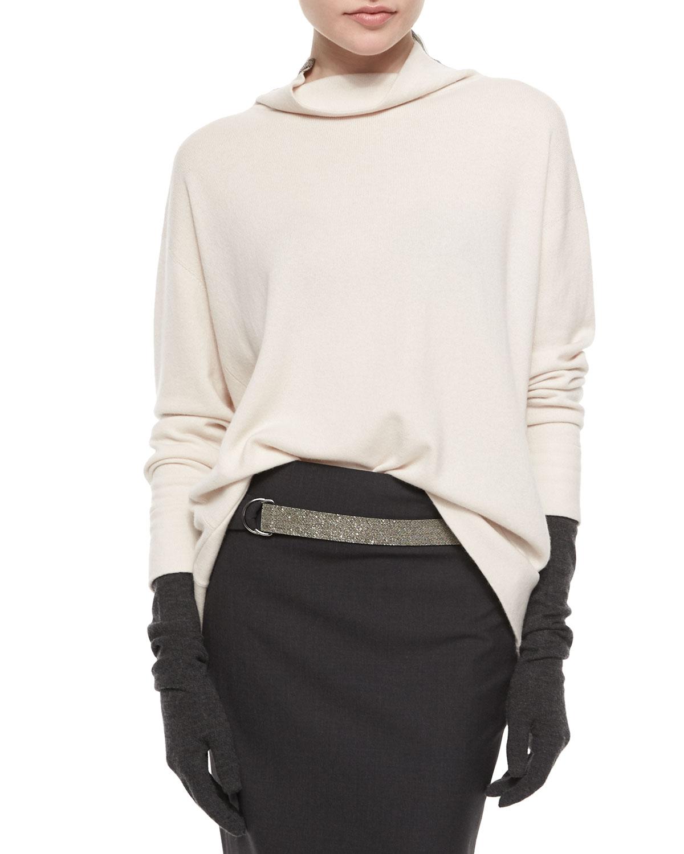 Cashmere Monili Turtleneck Sweater