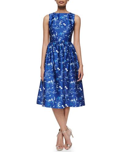 Bridgitte Sleeveless Floral Fit & Flare Dress