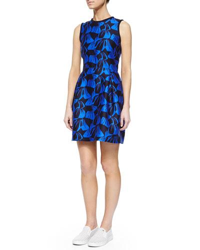 Sandler Leaf-Jacquard Fit & Flare Dress
