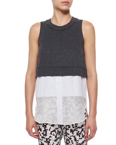 Sleeveless Jersey Layered Tank