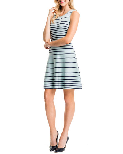 Kyra Striped Fit & Flare Dress