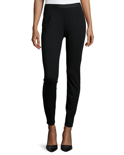Stretch Ponte Leggings, Black, Petite