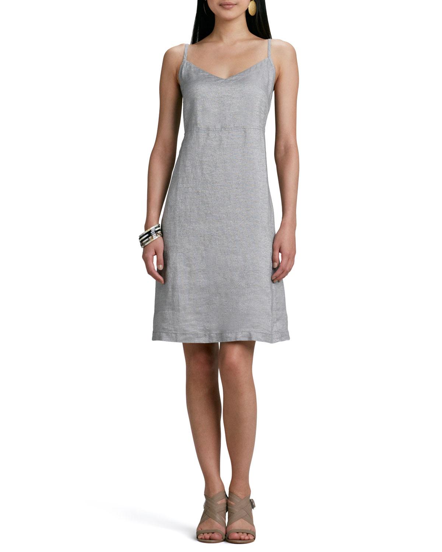 Twinkle Linen Slip-Dress
