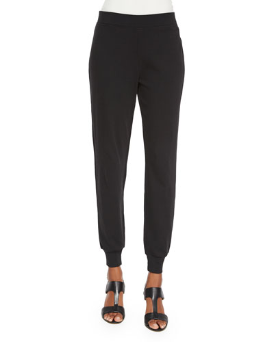 Cotton Interlock Jog Pants, Petite