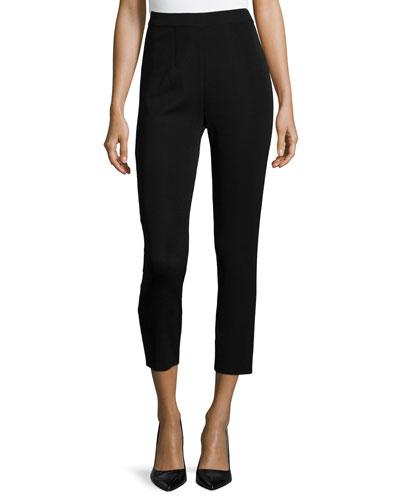Slim Ankle Pants, Black