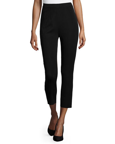 Slim Ankle Pants, Black, Plus Size