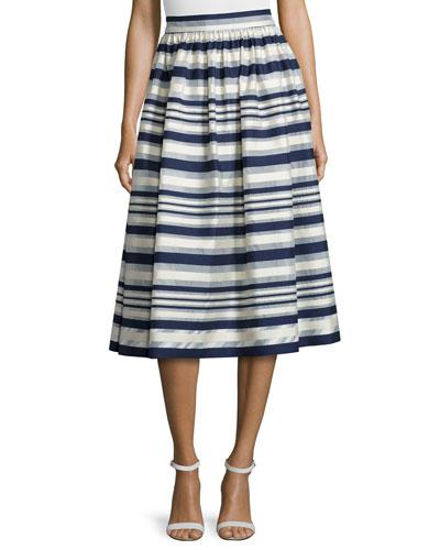 Quinne Striped Midi Skirt