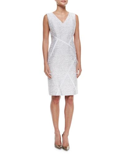 Kiersten Sleeveless Sakura Jacquard Dress