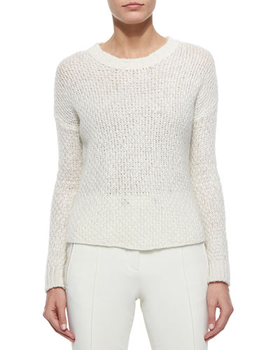 Cable Knit Sweater, Cream