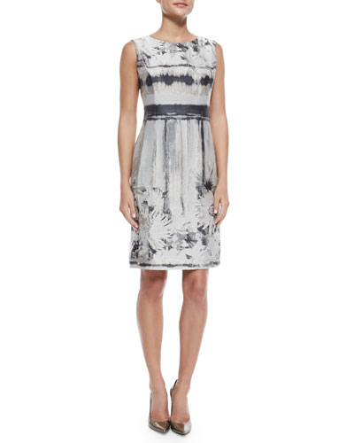 Evelyn Sleeveless Printed Dress
