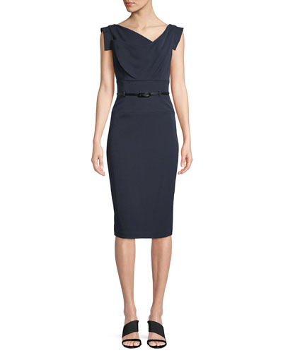 NAVY/ JACKIE O SHEATH DRE