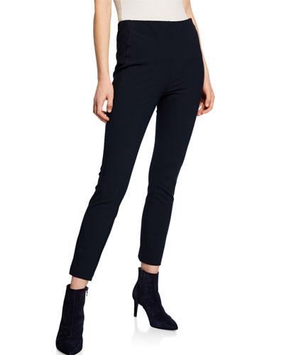 Simone Stretch Ankle Pants, Black