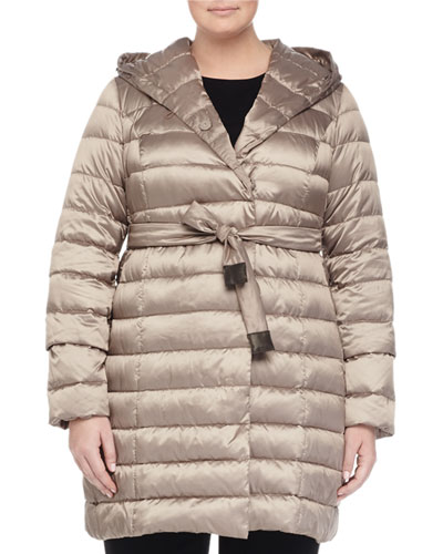 Zermatte Quilted Belted Travel Jacket, Plus Size