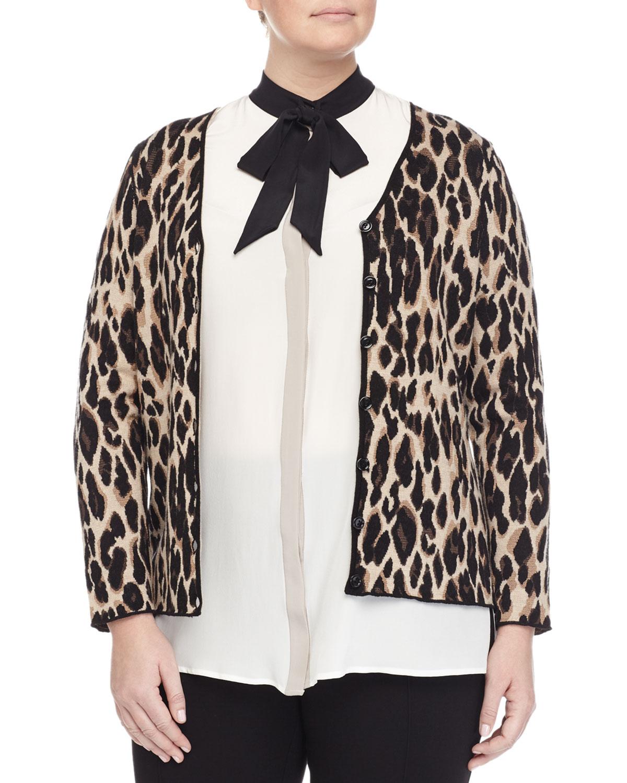 Mimo Animal-Print Jacket, Plus Size