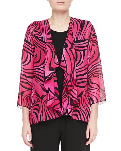 Groovy Swirl Drape Jacket, Plus Size
