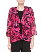 Caroline Rose Groovy Swirl Drape Jacket