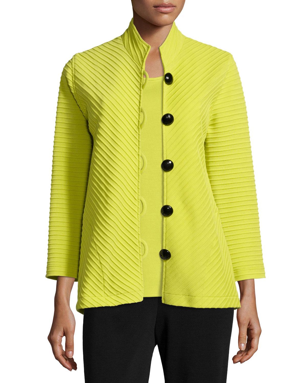 Wool Ottoman Easy Jacket, Plus Size