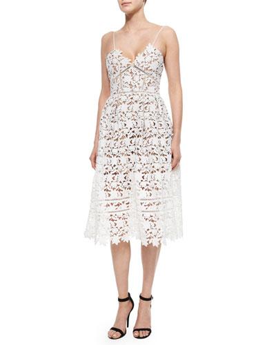 Azalea Lace Dress, White