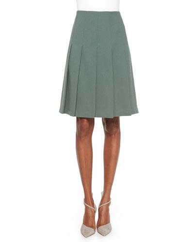 Rayden Pleated Wool Skirt