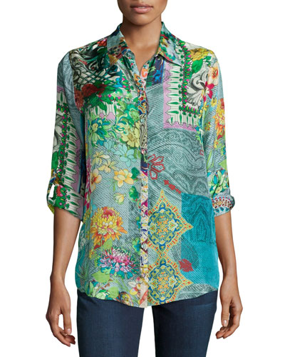 Brightwood Printed Blouse, Plus Size