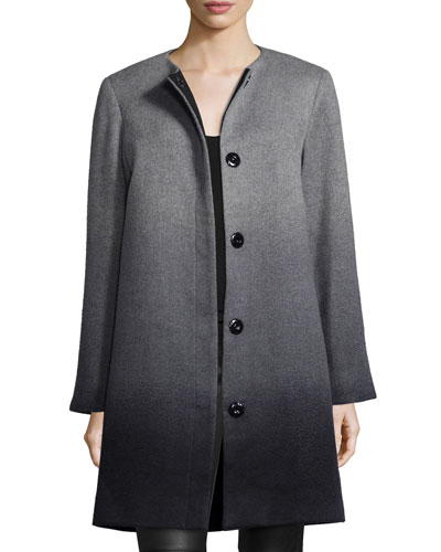 Wool-Cashmere Ombre Coat