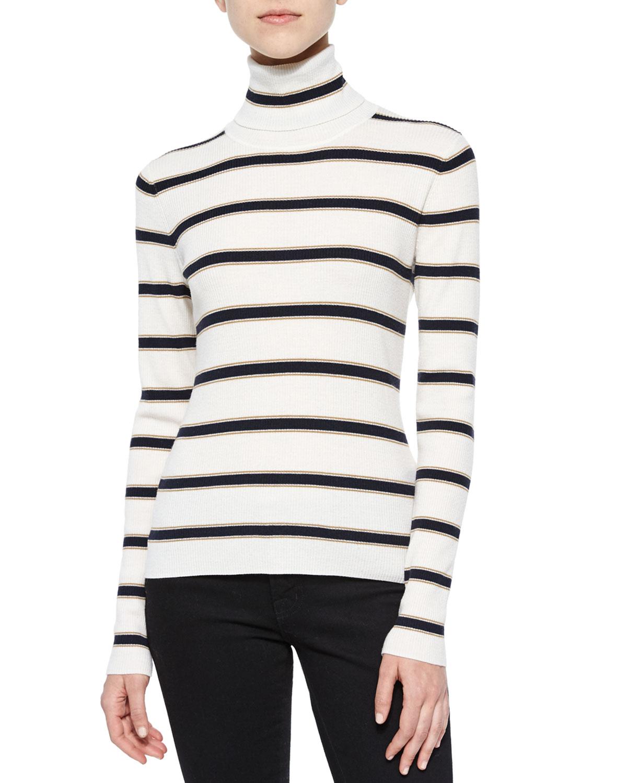 Ollie Striped Turtleneck Sweater