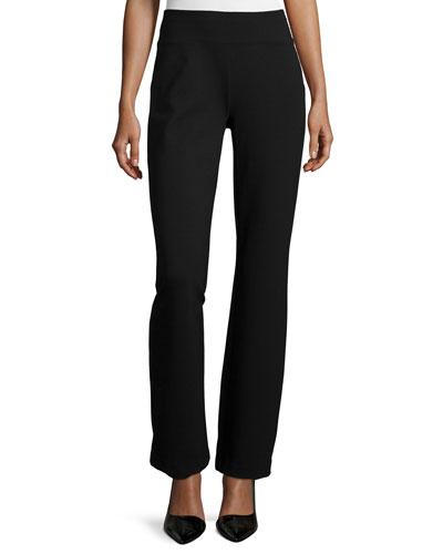 Ponte Boot-Leg Pants, Plus Size