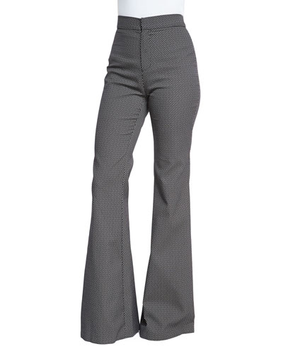 Jacinta High-Waist Flare Pants, Coal