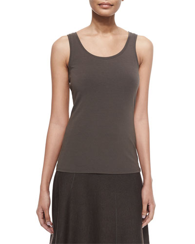 Perfect Jersey Scoop-Neck Tank, Petite