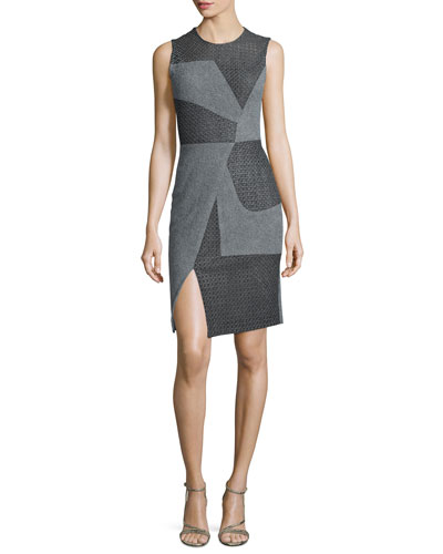 Sleeveless Asymmetric-Seam Dress