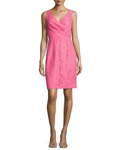 Lulu Sleeveless Lace Cocktail Dress
