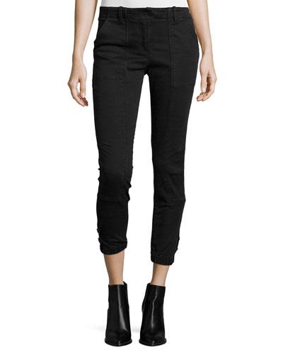 Field Cropped Cargo Pants, Dark Gray