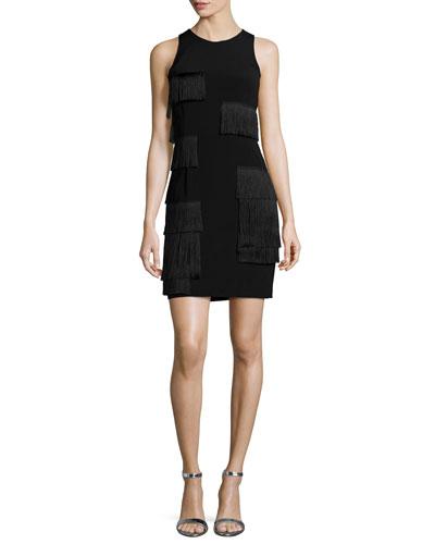 Chadwich Patchwork Fringe Sleeveless Dress