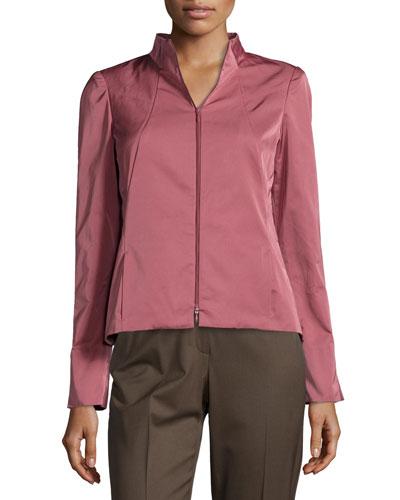 Amia Sateen Two-Zip Jacket