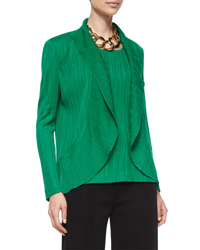 Textured Cascade Jacket, Putting Green, Petite