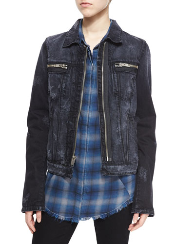 Phoenix Denim Zip-Front Jacket, Odyssey