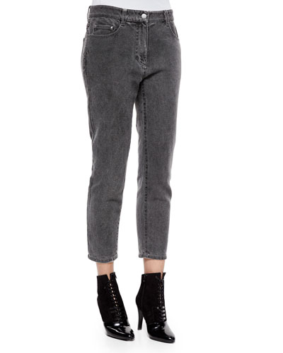 Destroyed Saddle Cropped Jeans