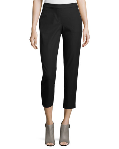 Thaniel Approach Cropped Slim Pants, Black