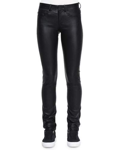 Slim Leather Pants